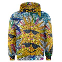 Sun From Mosaic Background Men s Zipper Hoodie by Nexatart