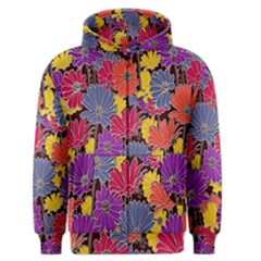 Colorful Floral Pattern Background Men s Zipper Hoodie by Nexatart