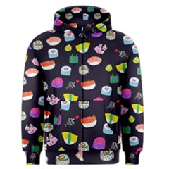 Japanese Food Sushi Fish Men s Zipper Hoodie by Mariart