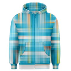 Lines Blue Stripes Men s Zipper Hoodie by Mariart