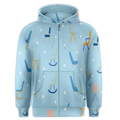 Seat Blue Polka Dot Men s Zipper Hoodie by Mariart