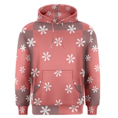 Seed Life Seamless Remix Flower Floral Red White Men s Pullover Hoodie by Mariart