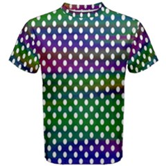 Digital Polka Dots Patterned Background Men s Cotton Tee by Nexatart