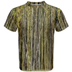 Bamboo Trees Background Men s Cotton Tee by Nexatart