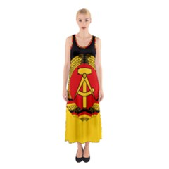Flag Of East Germany Sleeveless Maxi Dress by abbeyz71