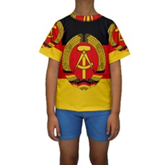 Flag Of East Germany Kids  Short Sleeve Swimwear by abbeyz71