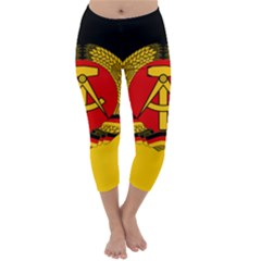 Flag Of East Germany Capri Winter Leggings  by abbeyz71