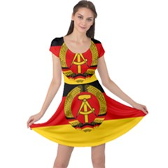 Flag Of East Germany Cap Sleeve Dresses by abbeyz71