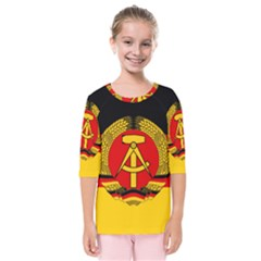 Flag Of East Germany Kids  Quarter Sleeve Raglan Tee by abbeyz71