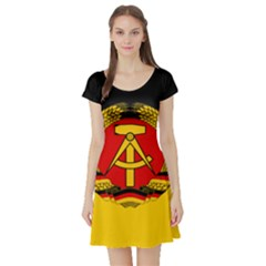 Flag Of East Germany Short Sleeve Skater Dress by abbeyz71