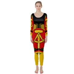 Flag Of East Germany Long Sleeve Catsuit by abbeyz71