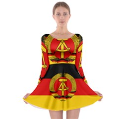 Flag Of East Germany Long Sleeve Skater Dress by abbeyz71