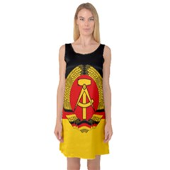 Flag Of East Germany Sleeveless Satin Nightdress by abbeyz71