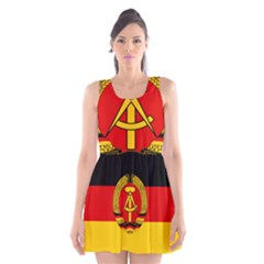Flag Of East Germany Scoop Neck Skater Dress by abbeyz71
