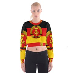 Flag Of East Germany Cropped Sweatshirt by abbeyz71