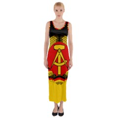Flag Of East Germany Fitted Maxi Dress by abbeyz71