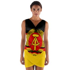 Flag Of East Germany Wrap Front Bodycon Dress by abbeyz71