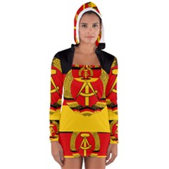 Flag Of East Germany Women s Long Sleeve Hooded T Shirt by abbeyz71