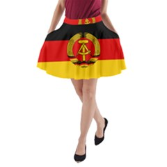 Flag Of East Germany A Line Pocket Skirt by abbeyz71
