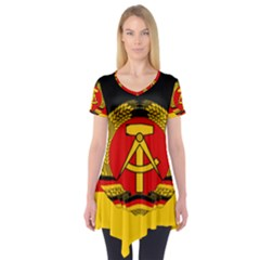 Flag Of East Germany Short Sleeve Tunic  by abbeyz71