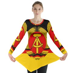 Flag Of East Germany Long Sleeve Tunic  by abbeyz71