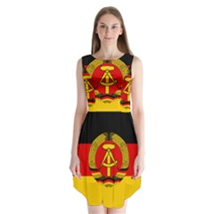 Flag Of East Germany Sleeveless Chiffon Dress   by abbeyz71