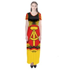 Flag Of East Germany Short Sleeve Maxi Dress by abbeyz71