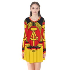 Flag Of East Germany Flare Dress by abbeyz71