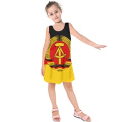 Flag Of East Germany Kids  Sleeveless Dress by abbeyz71