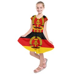 Flag Of East Germany Kids  Short Sleeve Dress by abbeyz71