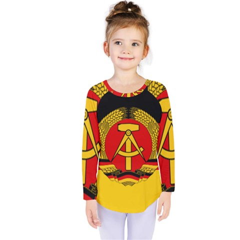 Flag Of East Germany Kids  Long Sleeve Tee by abbeyz71