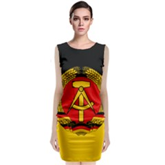 Flag Of East Germany Sleeveless Velvet Midi Dress by abbeyz71