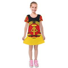 Flag Of East Germany Kids  Short Sleeve Velvet Dress by abbeyz71