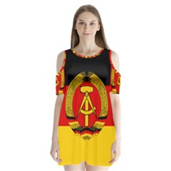 Flag Of East Germany Shoulder Cutout Velvet  One Piece by abbeyz71