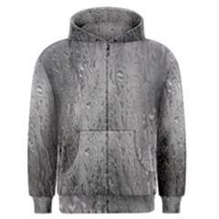 Water Drops Men s Zipper Hoodie by Nexatart