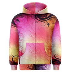 Floral Frame Surrealistic Men s Zipper Hoodie by Nexatart
