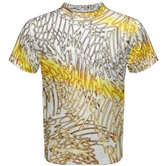 Abstract Composition Digital Processing Men s Cotton Tee by Nexatart
