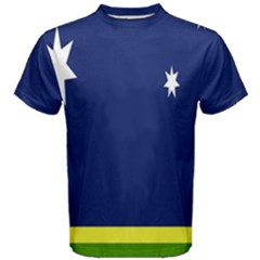 Flag Star Blue Green Yellow Men s Cotton Tee by Mariart