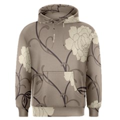 Flower Floral Black Grey Rose Men s Pullover Hoodie by Mariart
