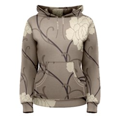 Flower Floral Black Grey Rose Women s Pullover Hoodie by Mariart