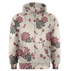Flower Floral Black Pink Men s Zipper Hoodie by Mariart