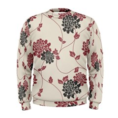 Flower Floral Black Pink Men s Sweatshirt by Mariart