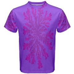 Dendron Diffusion Aggregation Flower Floral Leaf Red Purple Men s Cotton Tee by Mariart