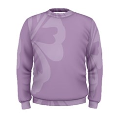 Hibiscus Sakura Lavender Herb Purple Men s Sweatshirt by Mariart