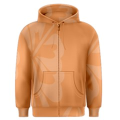 Hibiscus Sakura Tangerine Orange Men s Zipper Hoodie by Mariart