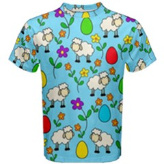 Easter Lamb Men s Cotton Tee by Valentinaart