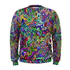 Colorful Abstract Paint Rainbow Men s Sweatshirt by Mariart