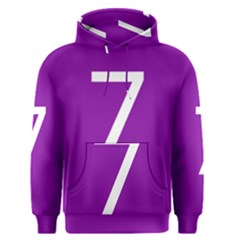Number 7 Purple Men s Pullover Hoodie by Mariart