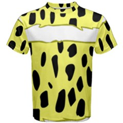 Leopard Polka Dot Yellow Black Men s Cotton Tee by Mariart