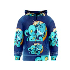 Zodiac Aquarius Kids  Zipper Hoodie by Mariart